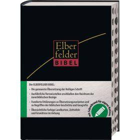 Elberfelder Bibel - mit Schreibrand und Griffregister, Leder